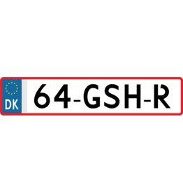Dänemark Kennzeichen Sticker