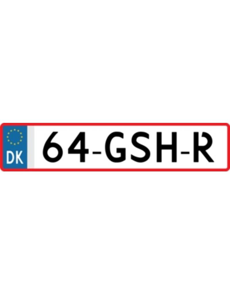 Denemark license Plate