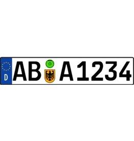 Autocollant plaque d'immatriculation allemande