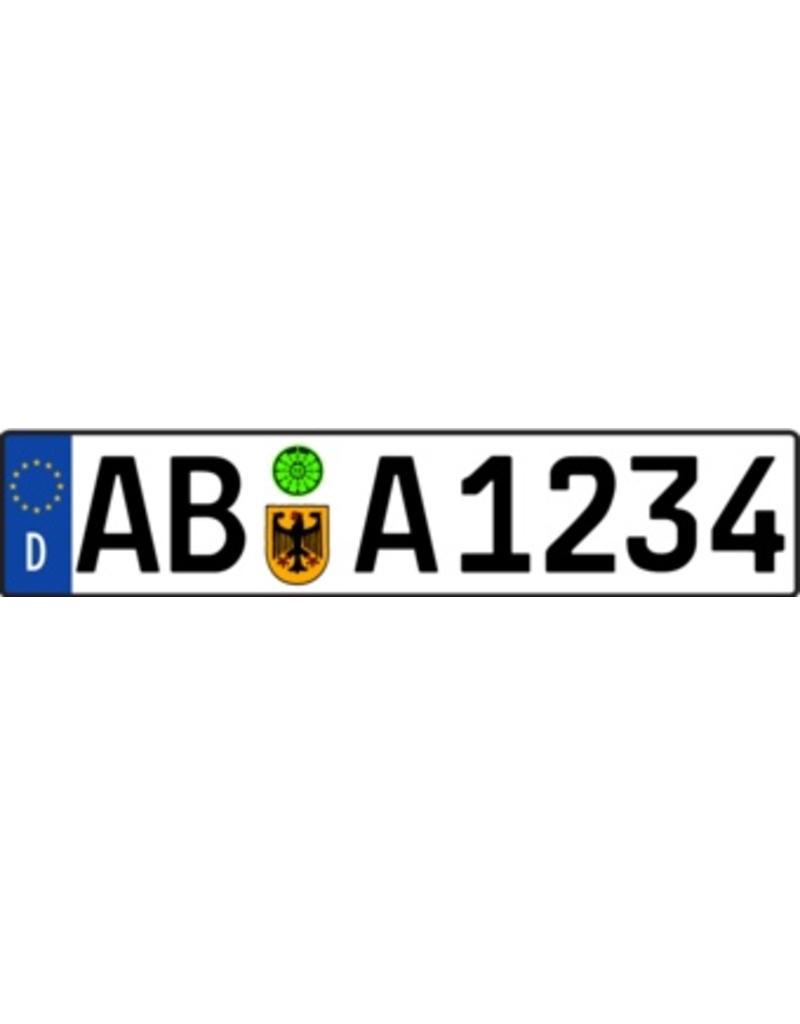 Pegatina placa de matrícula alemán