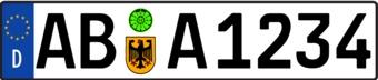 Duitsland kenteken Sticker