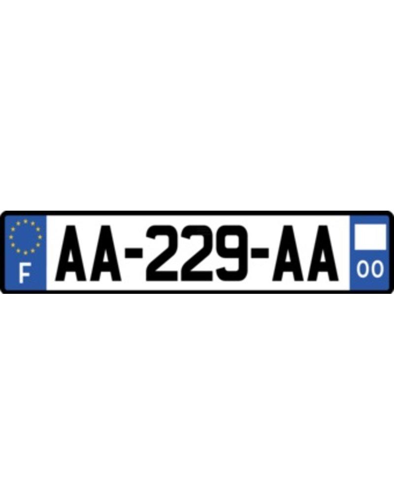 Frankreich Kennzeichen Sticker