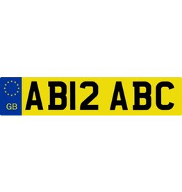 Great Britain License Plate Sticker