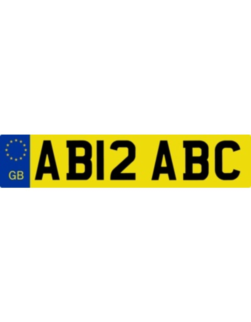 Great Britain License Plate Sticker