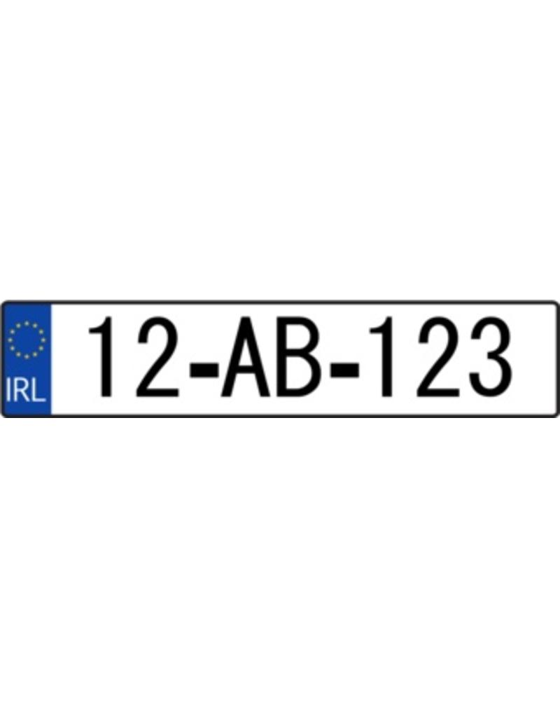 Ireland License Plate Sticker