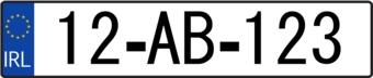 Irland Kennzeichen Sticker