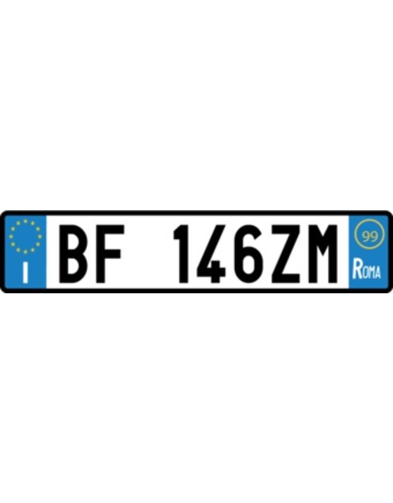 Italian License Plate Sticker