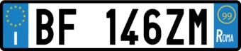 Italian License Plate Sticker