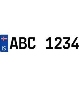 Island Kennzeichen Sticker