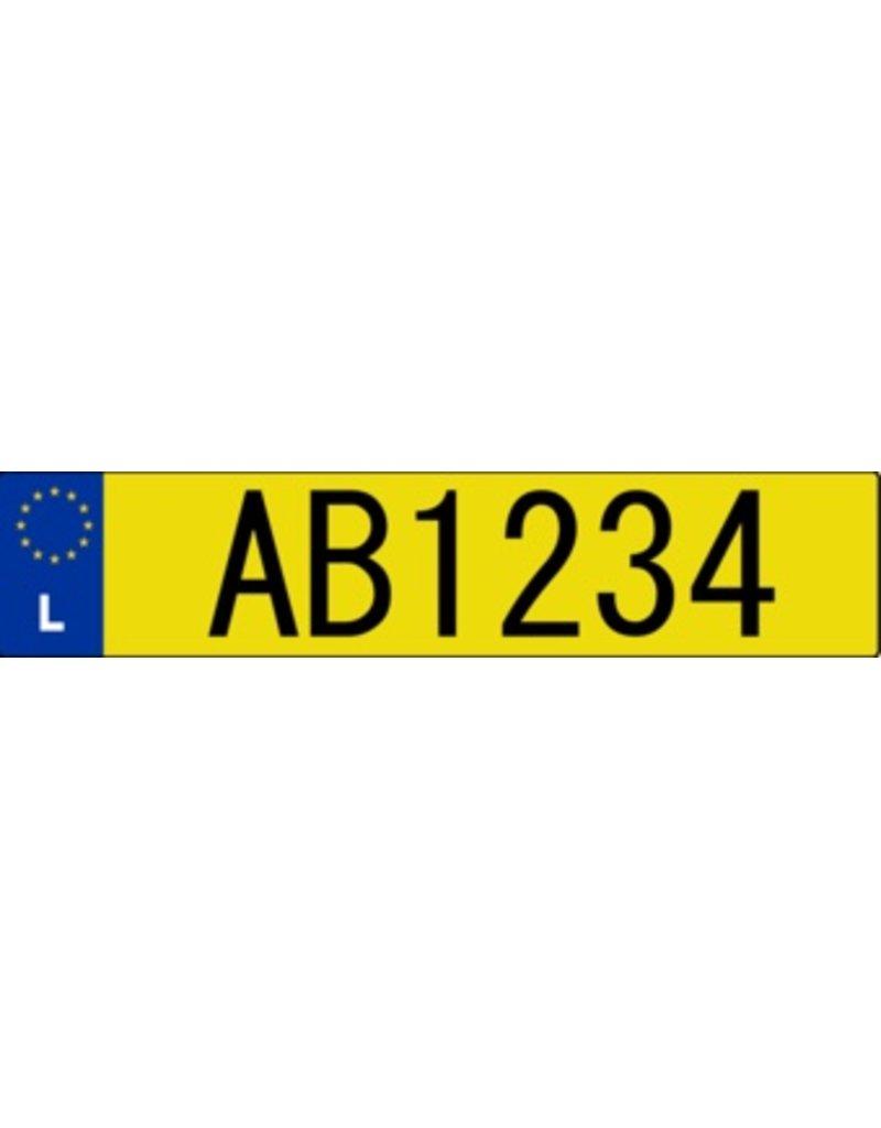 Luxemburg Kennzeichen Sticker