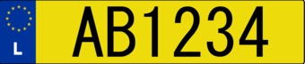 Luxembourg License plate Sticker