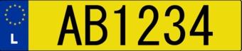 Pegatina placa de matrícula luxemburgués