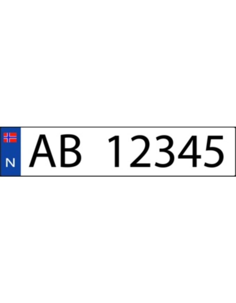 Pegatina placa de matrícula noruego