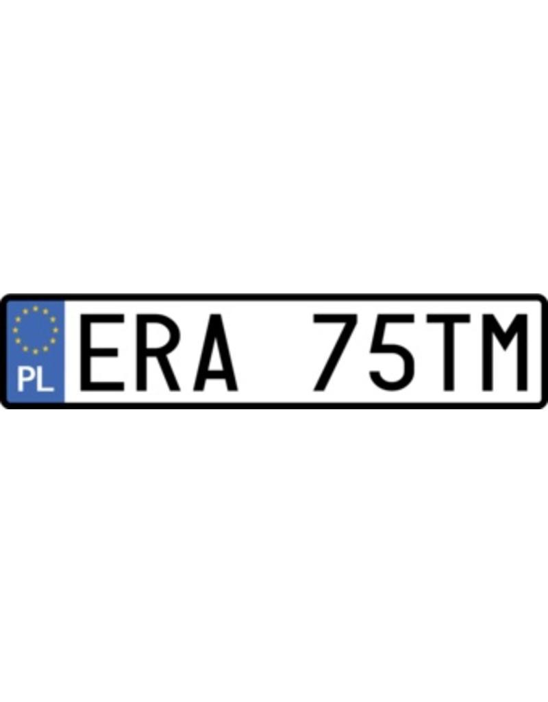 Autocollant plaque d'immatriculation polonaise