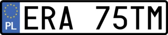 Poland License Plate Sticker
