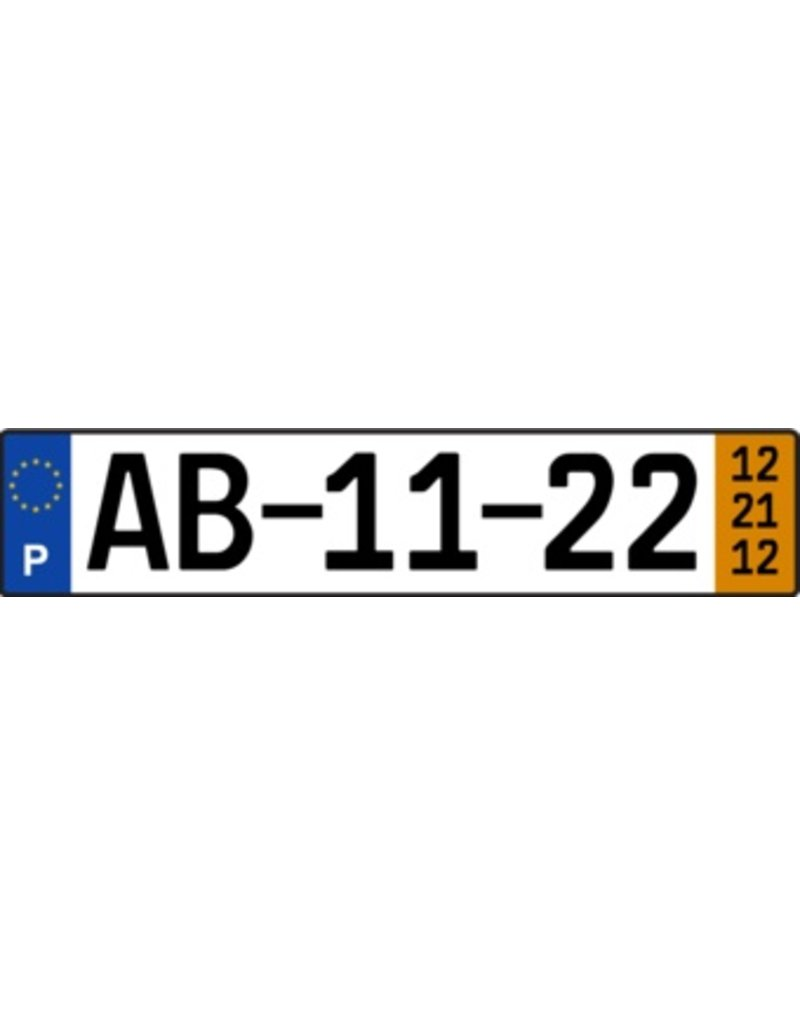 Portugal License Plate Sticker