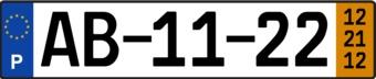 Portugal License Plate Sticker