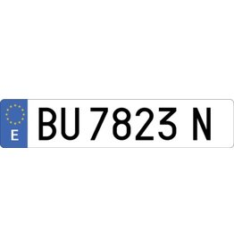 Spain License Plate Sticker