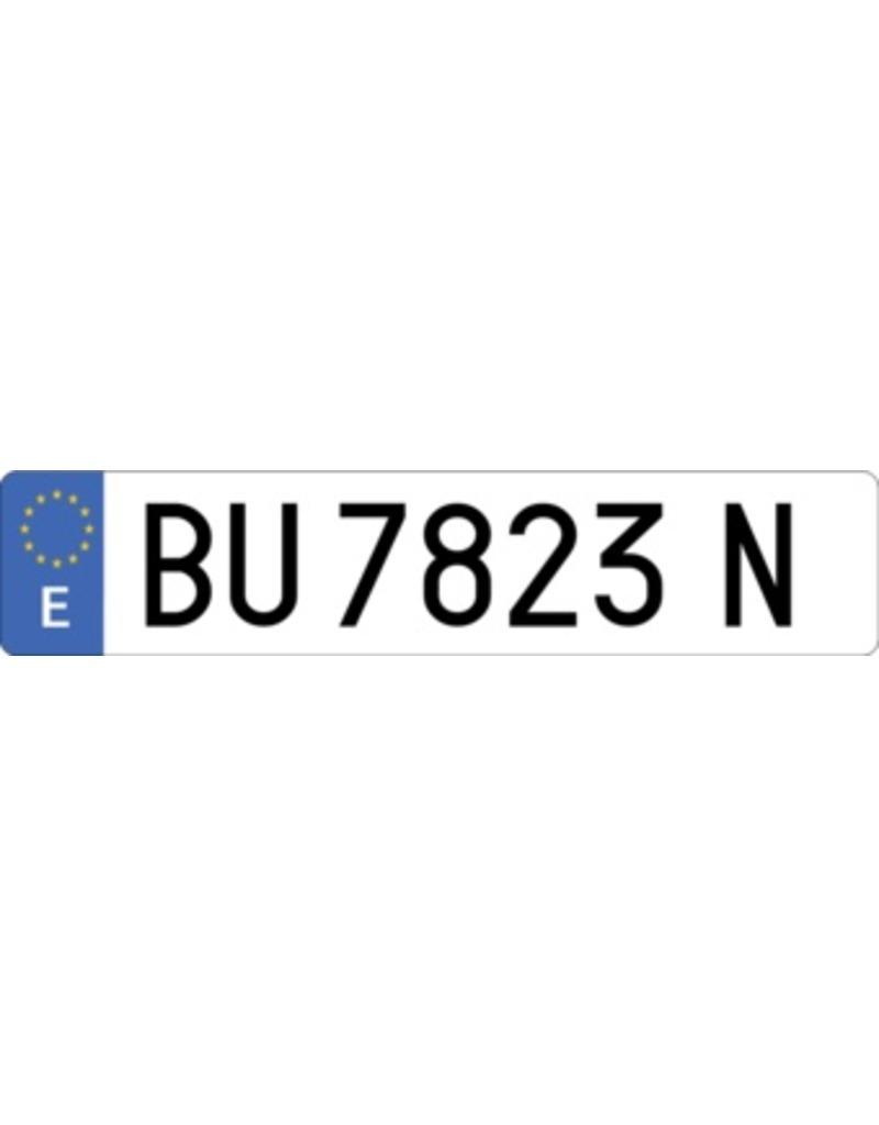Spain License Plate Sticker