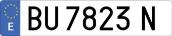 Autocollant plaque d'immatriculation espagnole