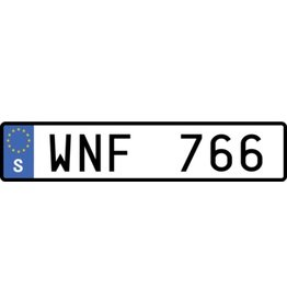 Swedish License Plate Sticker