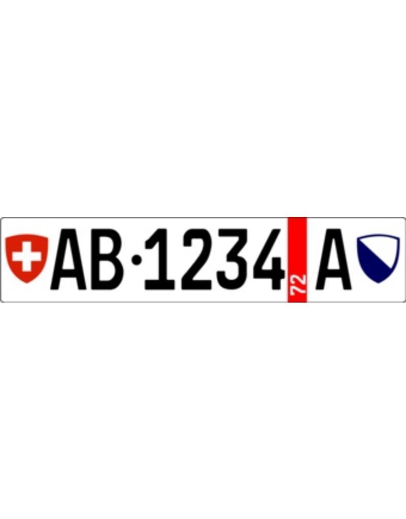Autocollant plaque d'immatriculation suisse