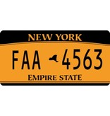 America License Plate Sticker