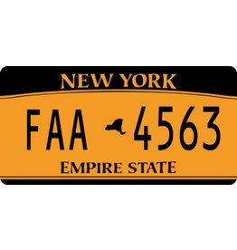 America License Plate Sticker
