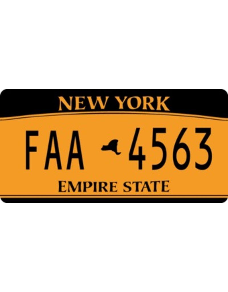 Autocollant plaque d'immatriculation américaine