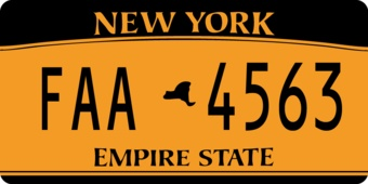 Amerika kenteken Sticker