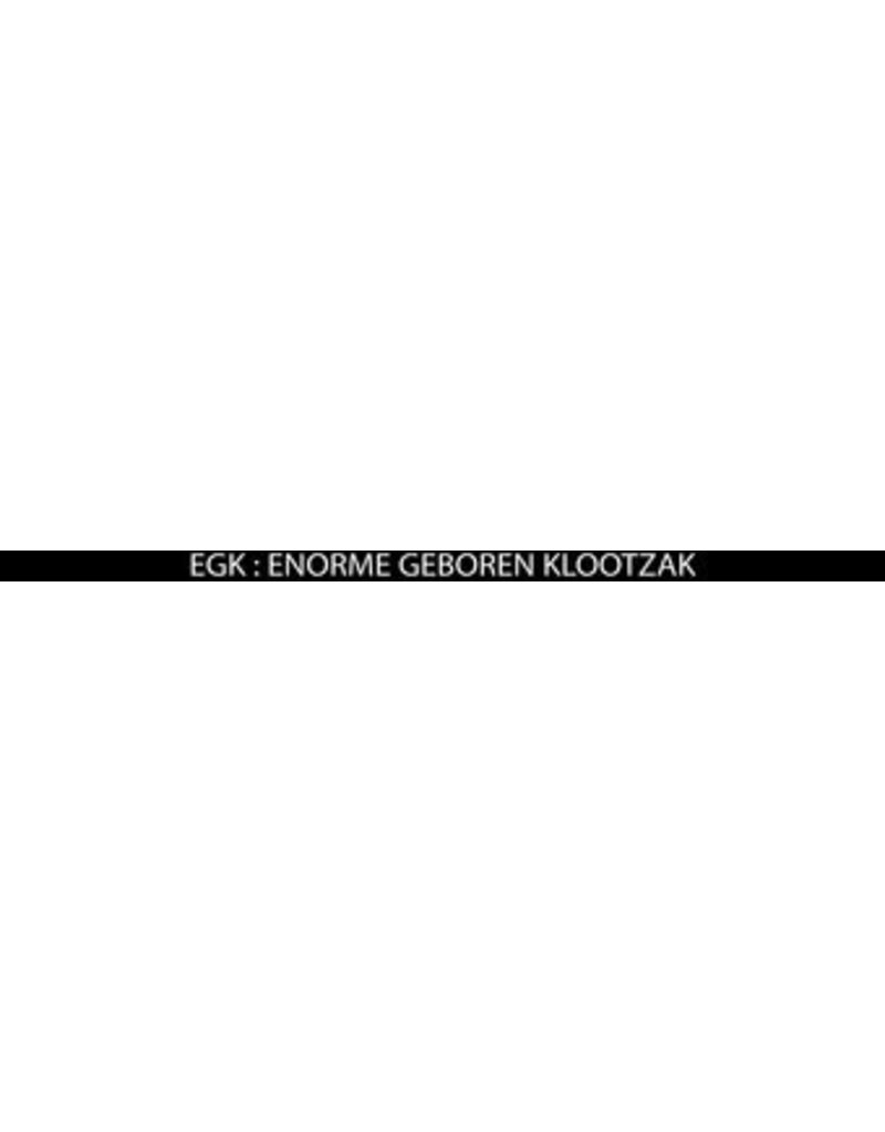 "Pegatina matrícula met tekst ""EGK = enorme geboren klootzak"""