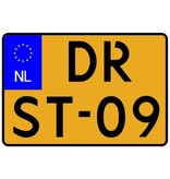 Dutch Number plate sticker - motorfiets Sticker