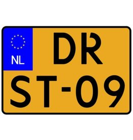 Dutch Number plate sticker - motorcycle little Sticker