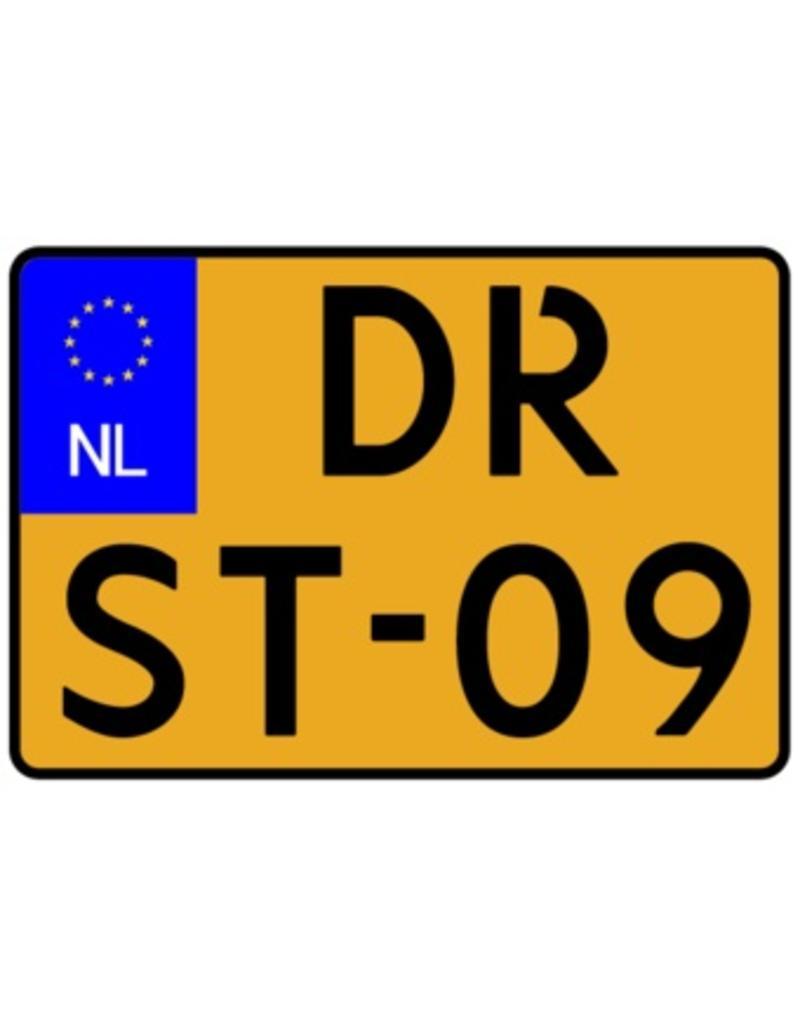 Nederlands kenteken sticker - motorfiets Sticker