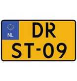 Dutch Number plate sticker - motorfiets klein Sticker