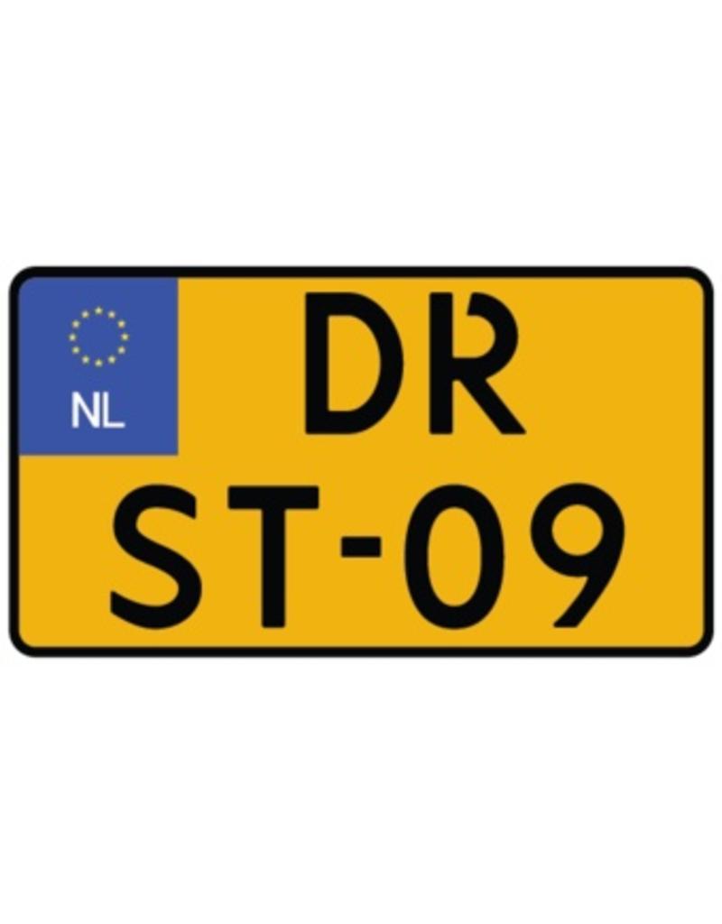 Niederländisches Autokennzeichen Sticker - Motorrad klein
