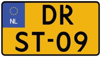 Dutch Number plate sticker - motorfiets klein Sticker