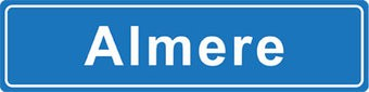 Almere place name sticker