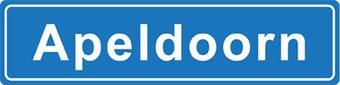 Apeldoorn pegatina nombre de ciudad