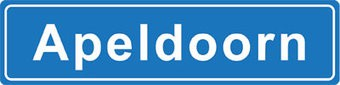 Apeldoorn plaatsnaam sticker