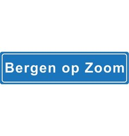 Bergen op Zoom Ortsschild Sticker