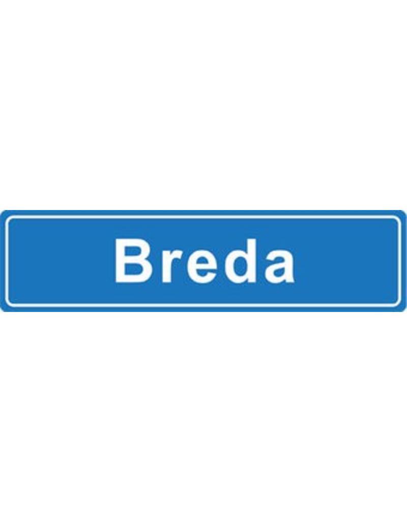 Breda pegatina nombre de ciudad