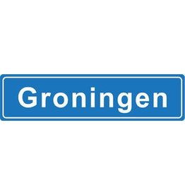 Groningen place name sticker