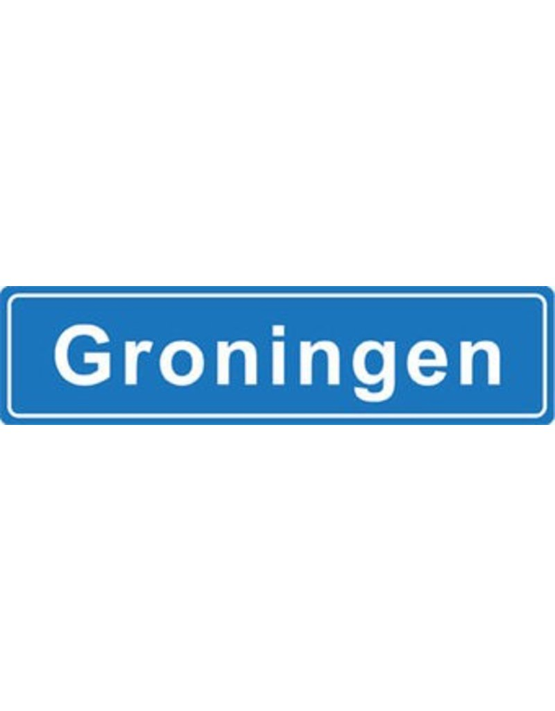 Groningen Ortsschild Sticker