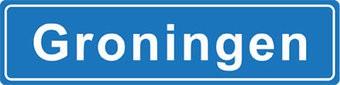 Groningue autocollant nom de ville