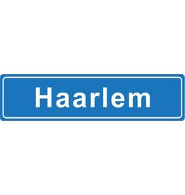 Haarlem Ortsschild Sticker