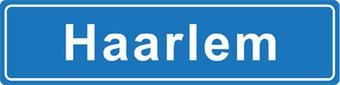 Haarlem place name sticker