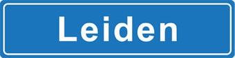 Leiden pegatina nombre de ciudad
