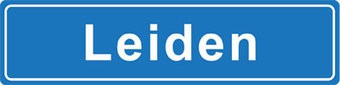 Leiden place name sticker