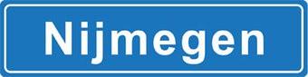 Nijmegen plaatsnaam sticker